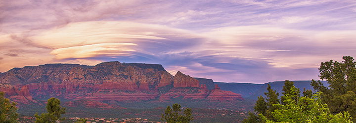 Airport Mesa Sedona Arizona lenticular cloud sunset